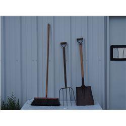 Broom, Fork, and Shovel