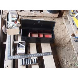 Tool Box with Hand Tools, Drill Bits, and More