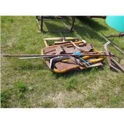 Whole Pallet of Calf Pullers, Headgate, Etc