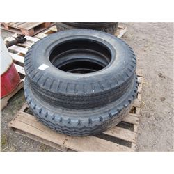 2 Tires: 7.50-20 8 Ply and 10R-22.5