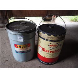 Texas Refinery Corp Pail & Imperial Marvelube 3 Star Pail