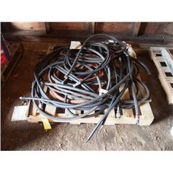 Various Hydraulic Hoses, Fittings, & Tins