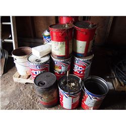 Various Oil Pails (approx 18): Esso, Texas Refinery Corp