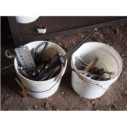 Pails of Wrenches; Tools, Pullers, Pipe Wrenches