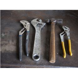Crescent, Hammer, Adjustable Pliers (4)