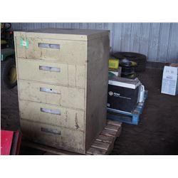 Metal 5 Drawer Filing Cabinet