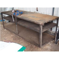 Metal Work Table with Vice