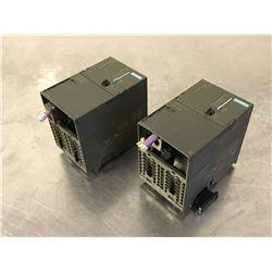 (2) SIEMENS 6ES7 317-2AJ10-0AB0 CPU MODULE