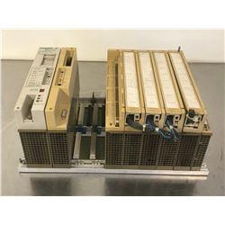 SIEMENS 6ES5 700-2LA12 SIMATIC S5 RACK W/ MODULES  *PARTS / REPAIR ONLY*