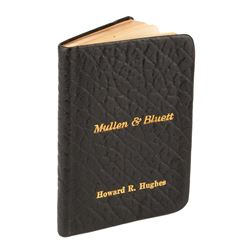 Howard Hughes personal 'little black book'.