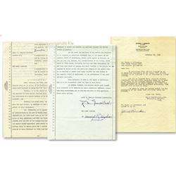 (2) Howard Hughes signed Caddo Company contracts for Two Arabian Knights.
