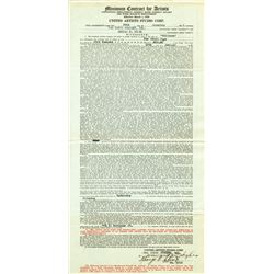 (3) Howard Hughes signed contracts for The Front Page, including other related Caddo Co. documents.