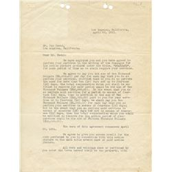 Howard Hughes signed Caddo Co contract hiring writer Ben Hecht for Scarface, countersigned by Hecht