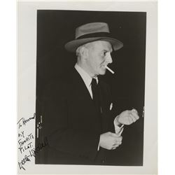 Howard Hughes personal signed photograph of columnist Walter Winchell.