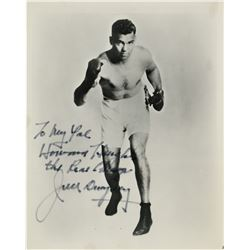 Howard Hughes personal signed photograph of champion boxer Jack Dempsey.