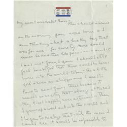 Howard Hughes (55+) personal handwritten love letters, notes and postcards from Katharine Hepburn.