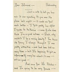 Howard Hughes letter from actress Susan Fox complaining about MGM publicist Robert Ritchie.