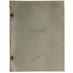 Howard Hughes 'Estimating Script' Second Revised Draft for The Outlaw.