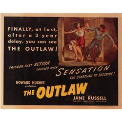 Howard Hughes personal half-sheet poster for The Outlaw.