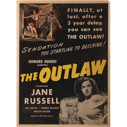 Howard Hughes personal 30 x 40 poster for The Outlaw.