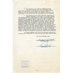 Legendary air racer and Hollywood stunt pilot Paul Mantz signed contract for Jet Pilot.