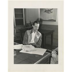 Howard Hughes personal oversize candid portrait photograph.