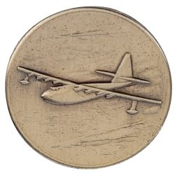 Howard Hughes personal Famous Flights medallion for the Nov. 2, 1947 test of the Flying Boat.