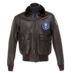 Kennedy, John F. Iconic personal Presidential leather G-1 bomber jacket.