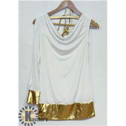 PEECABOO 2PC WOMENS INTIMATE COSTUME; WHITE SINGLE
