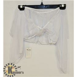 PEECABOO 2PC WOMENS WHITE SHEER INTIMATE OUTFIT
