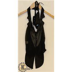 PEECABOO 3PC WOMENS BLACK SHEER & SATIN STYLE