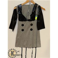 PEECABOO 2PC WOMENS GREY/ BLACK ACCENTED OPEN ARM