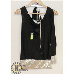 PEECABOO 2PC WOMENS INTIMATE COSTUME; BLACK SINGLE