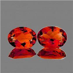 Natural Rare Madeira Top Orange Citrine Pair - FL