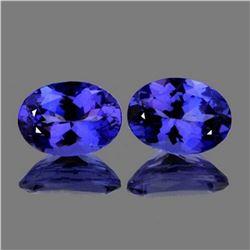 Natural AAA Purple Blue Tanzanite Pair - FL