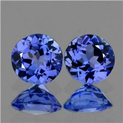 Natural Purple Blue Tanzanite Pair - {Flawless-VVS1}