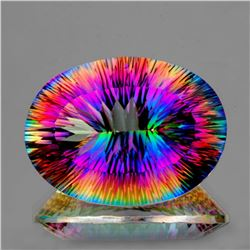 Natural Rainbow Mystic Quartz 18x13 MM - VVS