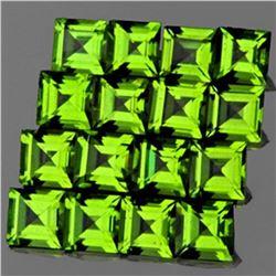 Natural AAA Green Peridot 16 Pcs {Flawless-VVS1}