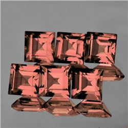 Natural Gold Pink Tourmaline 6 Pcs{Flawless-VVS1}