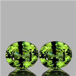Natural AAA Fire Premium Green Demantoid Pair - FL
