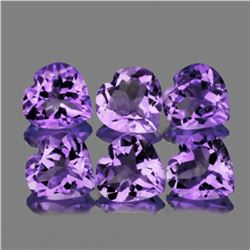 Purple Heart Amethyst 10 mm - 6 Pcs - VVS