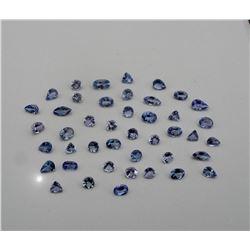 Genuine Tanzanite Mix Shapes 10 Carats