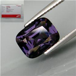 Natural Burma Purple Spinel 3.40 Carats - Certified