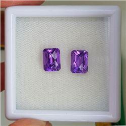 Natural Purple Amethyst Pair{Flawless-VVS1}