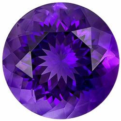 Round Brilliant Lab Amethyst 15.10 Carats - VVS