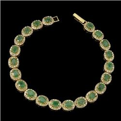 Natural Top Rich Green  Emerald Bracelet