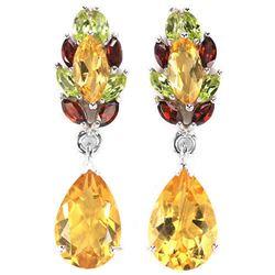 SAPPHIRE EMERALD GARNET AMETHYST TOURMALINE Earrings
