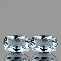 Natural Light Sky Blue Aquamarine Pair 8x5 MM - FL