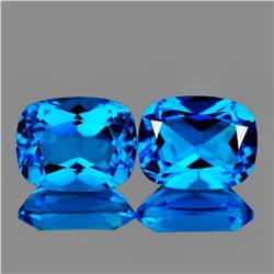 Natural Swiss Blue Topaz Pair 8 x 6 MM - FL