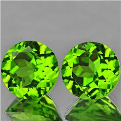 Natural  Green Peridot Pair 7.00 MM - VVS